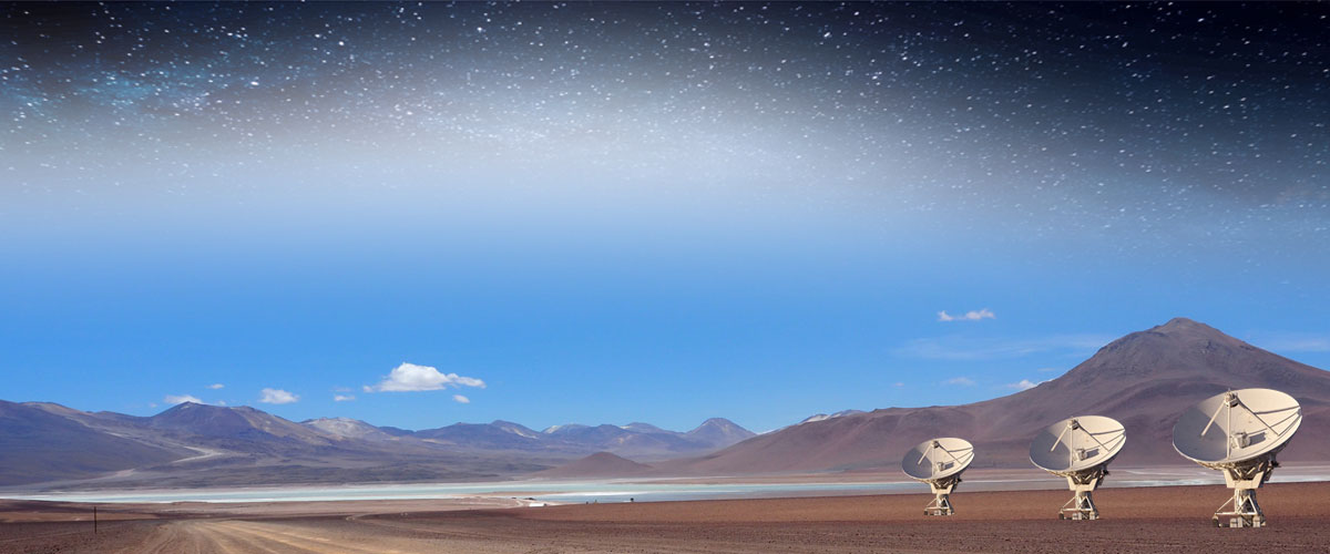 Daytime desert and a starry sky