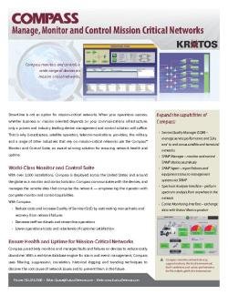 Fact Sheet - Compass Monitor and Control