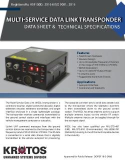 Multi-Service Data Link Transponder