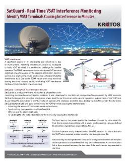 Fact Sheet - SatGuard - Real-Time VSAT Interference Monitoring