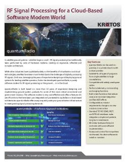Fact Sheet - quantumRADIO